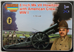 "Strelets 1/72 STA002 8"" MK.VII Howitzer with American Crew (WW1)"